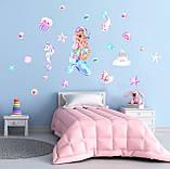 Наклейки на стену в детскую Русалочка, фото 2