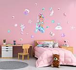 Наклейки на стену в детскую Русалочка, фото 3