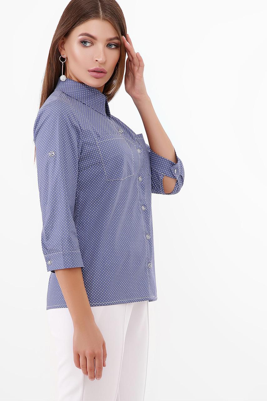 Стильна сорочка з укороченим рукавом