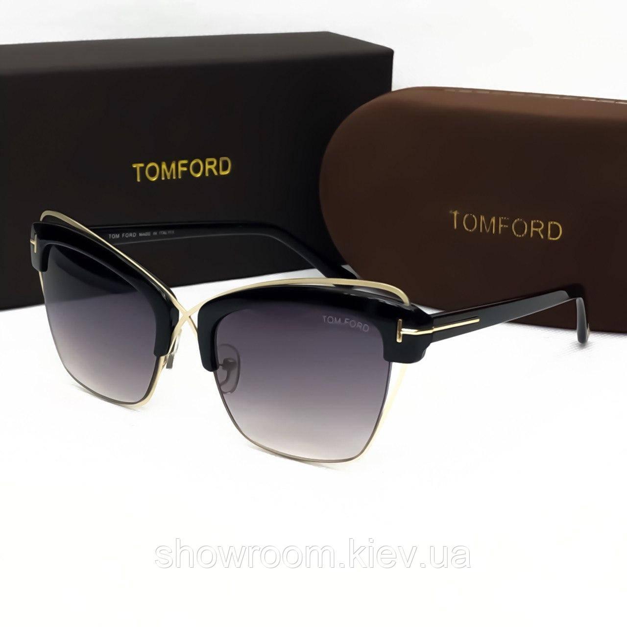 Женские солнцезащитные очки в стиле Tom Ford (0486)