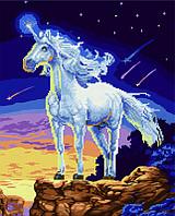 Алмазная картина раскраска Сказочный единорог