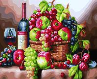 Алмазная картина раскраска Натюрморт с вином