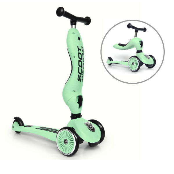 Scoot and Ride Highwaykick 1 Самокат-беговел 2 в 1 киви салатовый SR-160629-KIWI Scooter and Ride On Toy