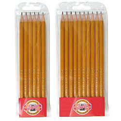 Олівець графітний 1570,  2Н-3В, 10 шт.