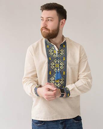 Мужская вышиванка на домотканном, фото 2