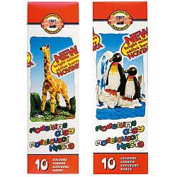 """Пластилин """"Жираф"""", карт.уп., 200г., 10 цв."""