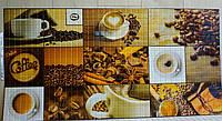 Декоративна пластикова листова стінова панель ПВХ Регул Мозаїка Кофейня 0,3мм 955*477 мм, фото 1