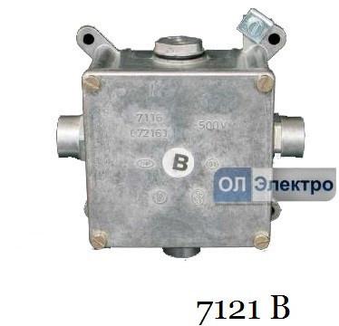 Коробка розподільна з кришкою і запобіжної клемою KOPOS 7121 B
