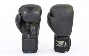 Перчатки боксерские кожаные на липучке BDB VL-6605 MATT (р-р 10-14oz, черный)