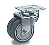 Сдвоенные колеса с поворотным кронштейном полипропилен/пластичная резина, Ф50 мм, нагрузка 90 кг
