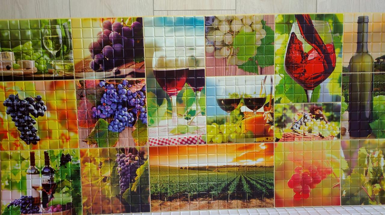 Пластикова листова стінова панель ПВХ Регул Мозаїка Осінь 0,3мм 956*480 мм
