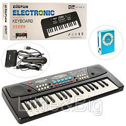 Пианино - синтезатор с микрофоном и плеером (РОЗОВЫЙ плеер) арт. 430