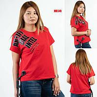 Яркая женская футболка больших размеров Sogo (Турция) HRB 345