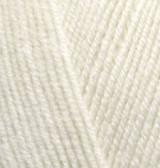 Пряжа для вязания Лана голд файн 01 крем