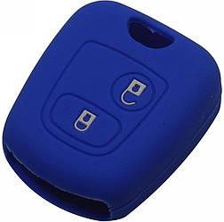 Чехол для автомобильного ключа Peugeot 107 206 307 207 408 Citroen C1 C2 C3 C4 Blue