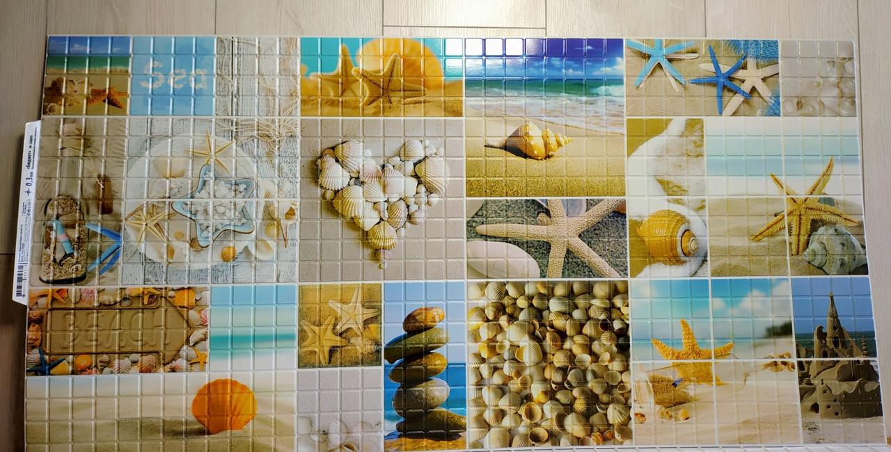 Пластикова листова стінова панель ПВХ Регул Морське узбережжя 0,3мм 956*480 мм