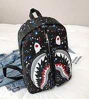 Рюкзак BAPE мужской женский чоловічий жіночий школьный портфель с принтом 657/25 Черный