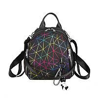 Женский классический рюкзак школьный портфель жіночий экокожа ПАУТИНКА