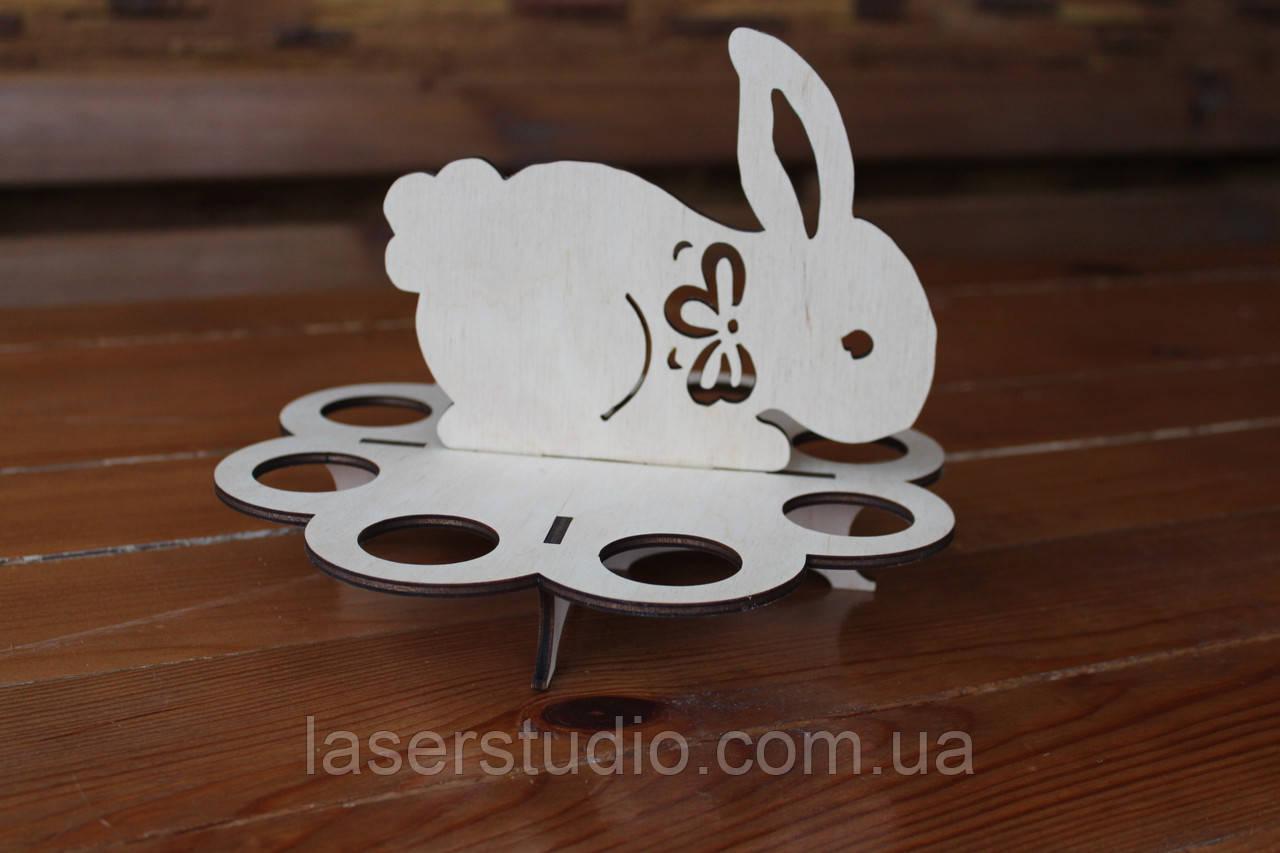 """Деревянная Пасхальная подставка """"Кролик"""" на 8 яиц"""