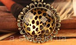 Підвіска кругла з леопардовим принтом