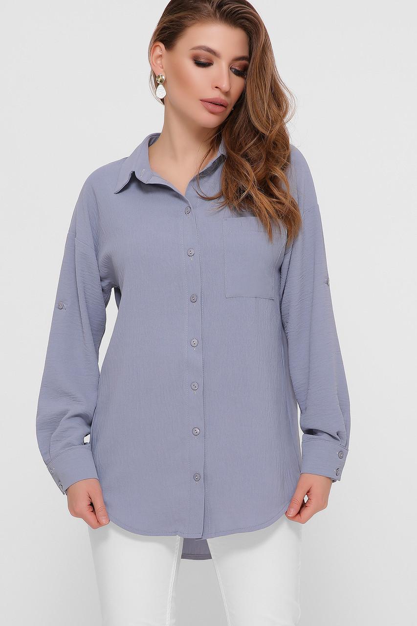 Стильна сорочка з довгим рукавом