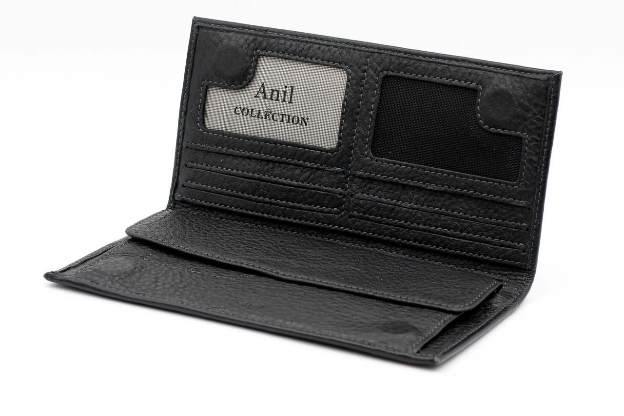 Мужское кожаное портмоне Anil 721-A черное (20769)