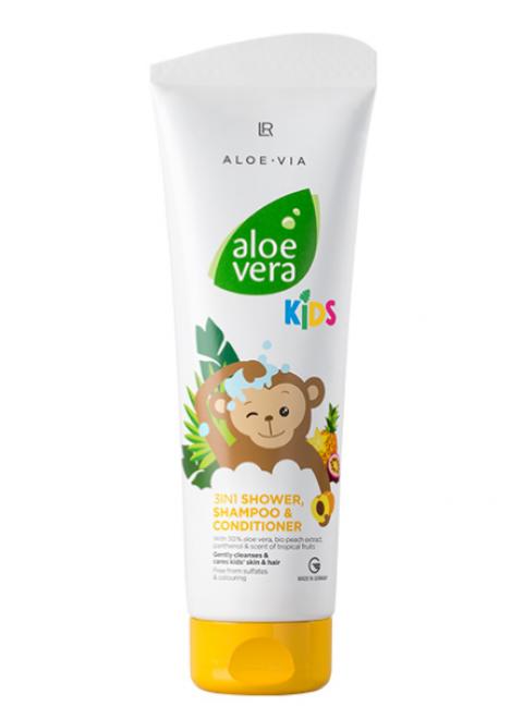 Шампунь-кондиционер для волос и тела ALOE VIA Kids