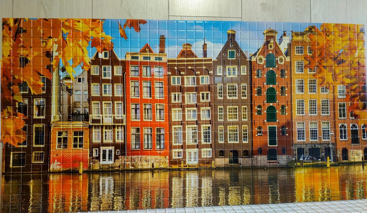 """Панелі ПВХ Мозаїка """"Осінь в Амстердамі """" 0,3мм (957*480 мм)"""
