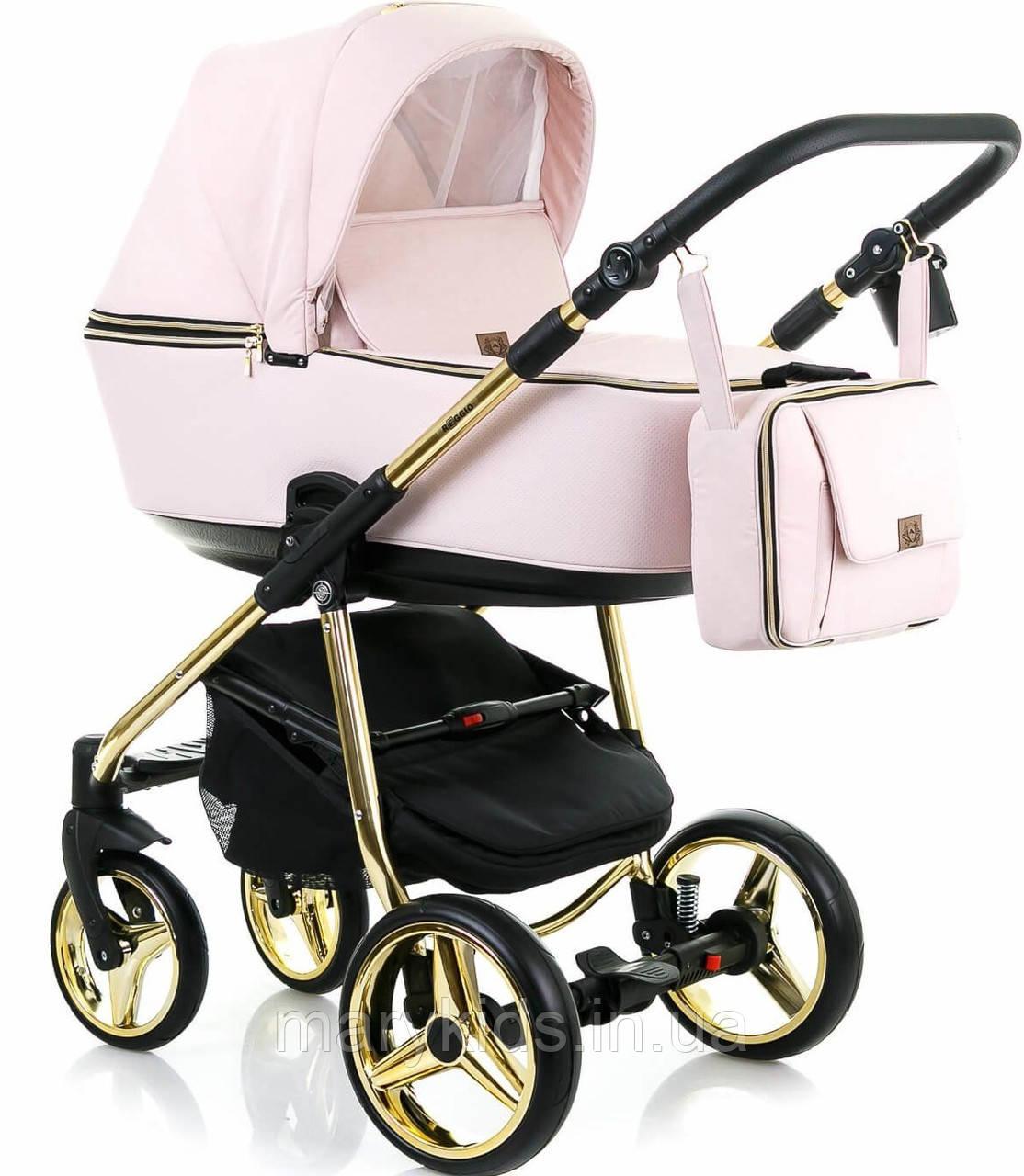 Детская универсальная коляска 2 в 1 Adamex Reggio Limited Chrome Y813