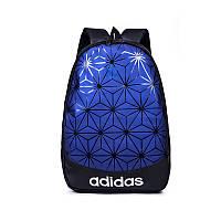 Рюкзак 3D Adidas  адидас рефлективный школьный портфель мужской женский  чоловічий 1908/21 Синий