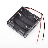 Батарейний відсік  АА x 4 шт плоский с проводами