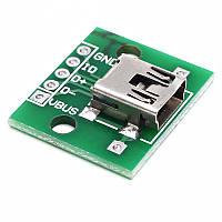 Модуль miniUSB PCB гнездо на плате