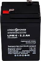 Аккумулятор   6 V  5.2A AGM LPM