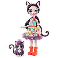 Лялька Enchantimals кішка Сієста Кет і Клаймбер 15см (Enchantimals Ciesta Cat Doll &Climber Animal Friend)