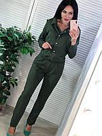 Комбинезон женский, стильный, хаки, 511-012-1
