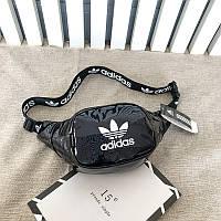 Бананка Adidas голографическая адидас мужская женская чоловіча жіноча поясная сумка 698/15 Черный