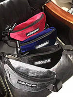 Бананка Adidas мужская женская адидас поясная сумка жіноча чоловіча сумочка 5877/17 Красный