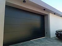 Сдвижные ворота из сендвич-панелей Alutech ads400 ш4600,в2700 мм-антрацит с двух сторон