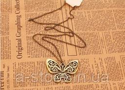 """Підвіска """"Метелик"""" вінтаж бронза"""