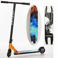 Самокат  трюковый iTrike металлический, разноцвет, колёса PU, от 5 лет