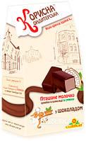 Конфеты Корисна Кондитерська Птичье молоко с шоколадом со стевией 150 г (4820158920236)