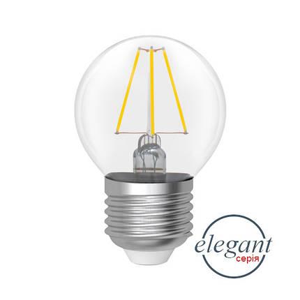 Лампа светодиодная шар ретро (прозрачный стекляный корпус) 4W E27 4000K, фото 2