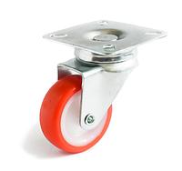 Аппаратные ролики повышенной износостойкости с поворотным кронштейном, Ф80 мм, нагрузка 60 кг