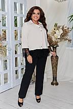 Стильный костюм женский, брючный, комплект блуза + брюки., р.48,50,52,54,56,58,60,62 код 3316Ф, фото 3