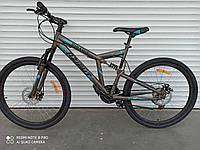 Горный двухподвесный велосипед Azimut Dinamic 26 серый (серо-голубой) на 85% собран.в коробке