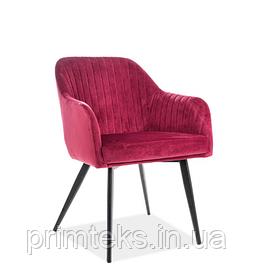 Кресло Elina Velvet (Элина Вельвет) бордовый