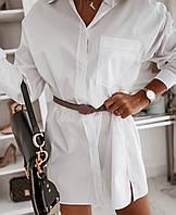 Женская стильная удлиненная рубашка