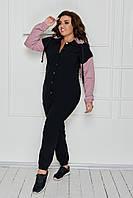 Ультрамодный костюм женский брючный из джинса-стрейч - куртка и брюки, 4 цвет р.42,44,46,48,50,52,54 код 3262Ф