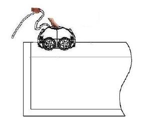 как правильно опустить автоматический пылесос в бассейн