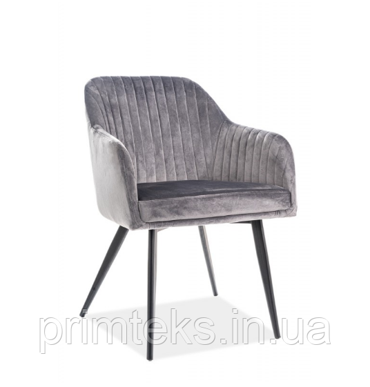 Кресло Elina Velvet ( Элина Вельвет) серый